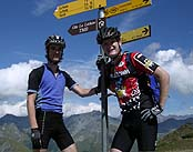 mountain bike guides on the tour du mont blanc