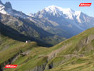 Col Du Balme and Mont Blanc in the early morning